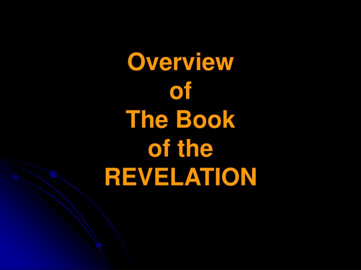 overview of the book of the revelation n.