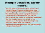 multiple causation theory cont d