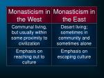 monasticism in the west