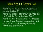 beginning of peter s fall