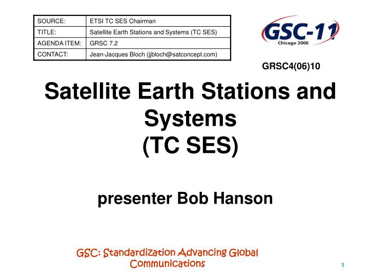 satellite earth stations and systems tc ses n.