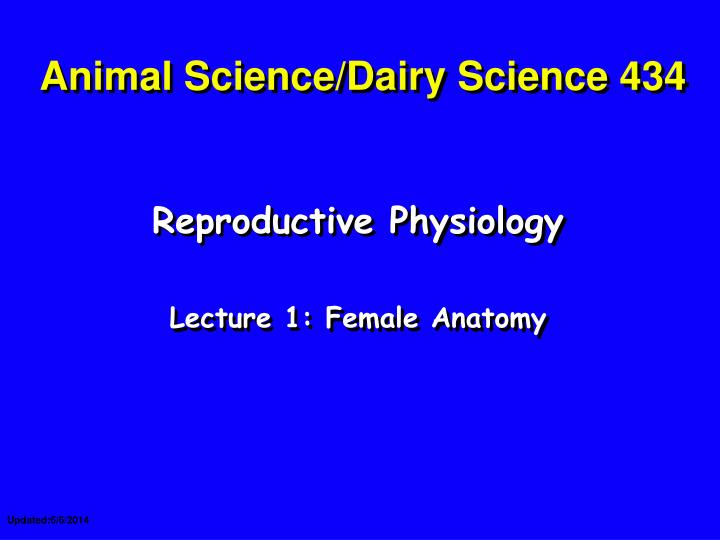 animal science dairy science 434 n.