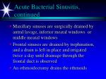 acute bacterial sinusitis continued1