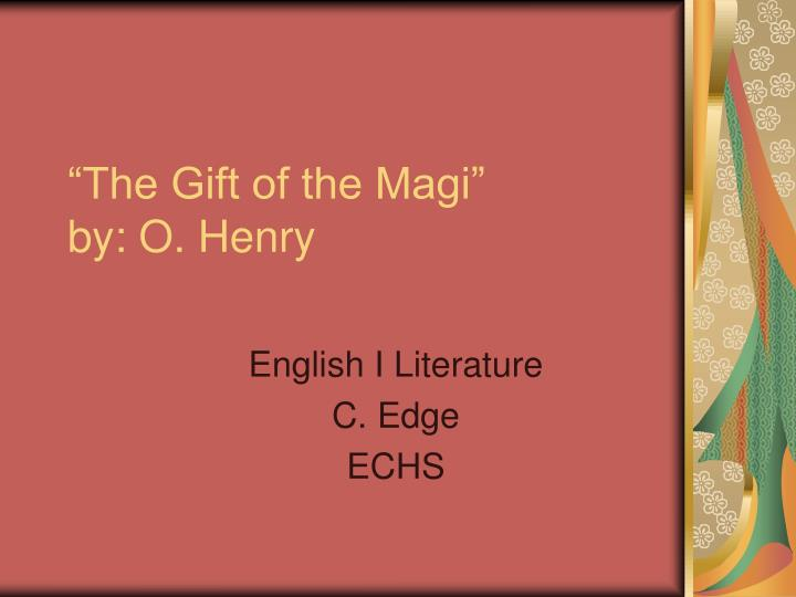 the gift of the magi by o henry n.
