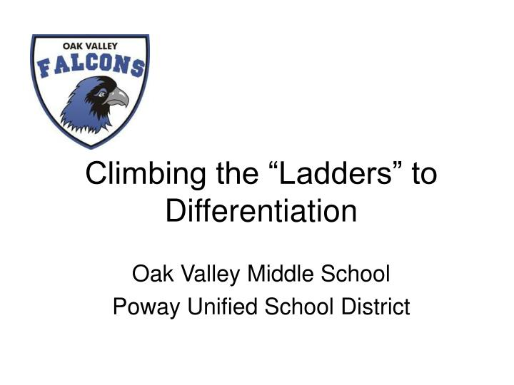 climbing the ladders to differentiation n.
