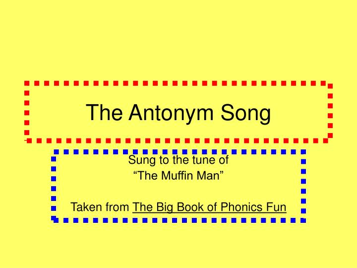 the antonym song n.