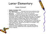 lanier elementary susan schmidt