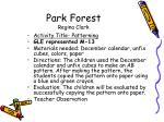 park forest regina clark