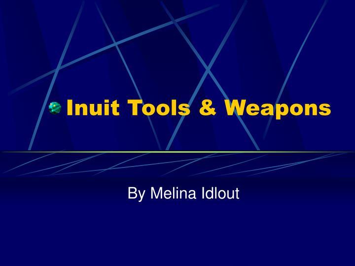 inuit tools weapons n.