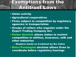 exemptions from the antitrust laws