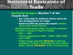 horizontal restraints of trade
