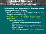market share and market definition