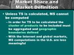 market share and market definition1
