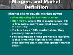 mergers and market definition