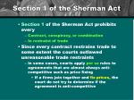 section 1 of the sherman act