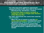 section 1 of the sherman act1