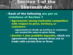 section 1 of the sherman act2