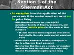 section 1 of the sherman act3