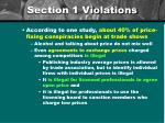 section 1 violations
