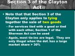 section 3 of the clayton act2