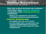 vertical restrictions