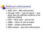 antitrust enforcement