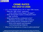 crime rates the drop in crime