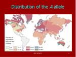 distribution of the a allele