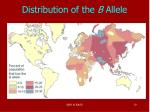 distribution of the b allele