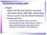 dispensationalism