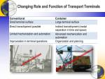 changing role and function of transport terminals