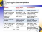 typology of global port operators