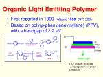 organic light emitting polymer