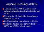 alginate dressings rcts