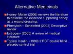 alternative medicinals