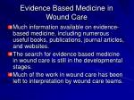 evidence based medicine in wound care