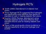 hydrogels rcts