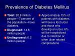 prevalence of diabetes mellitus