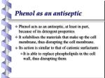 phenol as an antiseptic1