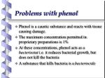 problems with phenol