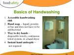 basics of handwashing