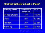 urethral catheters lost in place