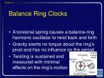 balance ring clocks