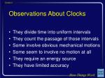 observations about clocks