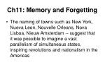 ch11 memory and forgetting