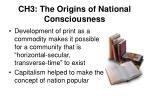 ch3 the origins of national consciousness
