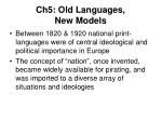 ch5 old languages new models