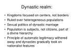 dynastic realm