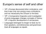 europe s sense of self and other