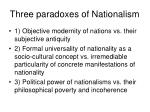 three paradoxes of nationalism